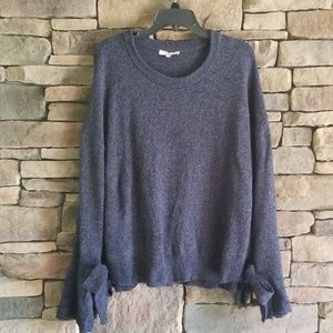 Madewell Tie Cuff Pullover Sweater.  Size XL.